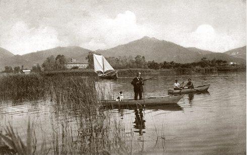 Caccia nel lago di Massaciuccoli, la tela